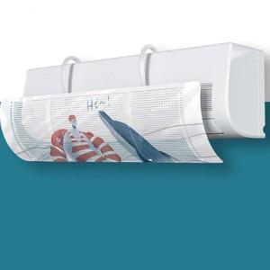 Animal Printed Cute AC Air Blow Vent Deflector - White Blue