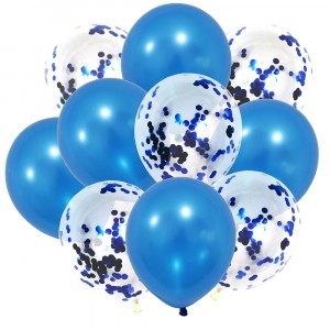 Birthday Home Party Wedding Decoration Air Balls Inflatable Toys Confetti Sequins Latex Balloon 10 Pcs Set