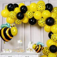 72 Pcs Party Woo Bee Baloon Bee Baby Shower Bee Birthday Party