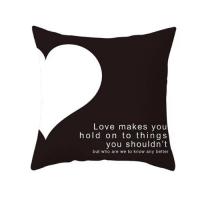 1 Piece Slogan Graphic Decorative Cushion Cover