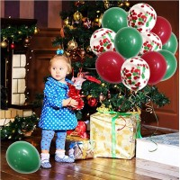 50 Pieces 12 inch Red Green Balloons for Party Decorations and School Classroom Games