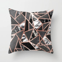 Chic Marble Design Cushion Cover