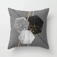 Geometrical Marble Design Cushion Cover