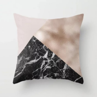 Figurines Marble Design Cushion Cover