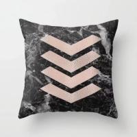 Arrows on Marble Design Cushion Cover