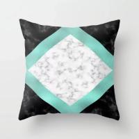Modern Geometry Marble Design Cushion Cover