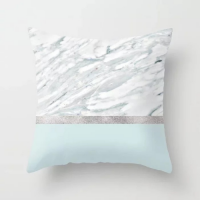 Marble With Silver Line Design Cushion Cover