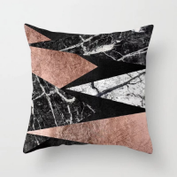 Swanky Marble Design Cushion Cover