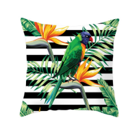 1 Piece Tropical Bird Design Decorative Cushion Cover