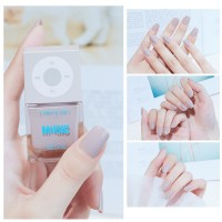Solid Color Waterproof Oily Nails Polish A21 - Light Gray