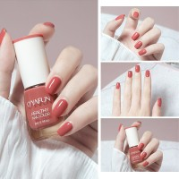 Quick Drying Fragrance Water Based Nail Polish 25 - Burnt Red