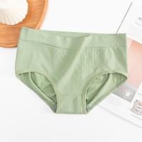 Stretchable Mesh Pattern Summer Wear Elastic Women Underwear - Green
