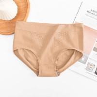 Stretchable Mesh Pattern Summer Wear Elastic Women Underwear - Skin Color