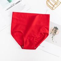 High Waist Slim Body Fitted Sexy Wear Underwear - Red