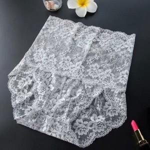 Floral Texture High Waist Slim Fit High Waist Underwear - Gray