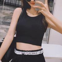Padded Slim Fitted Women Fashion Sports Wear Bra - Black