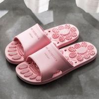 Slip Over Feet Comforter Pattern Casual Wear Slippers - Pink