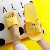 Cute Cow Fine Quality Plastic Casual Home Wear Slippers - Yellow