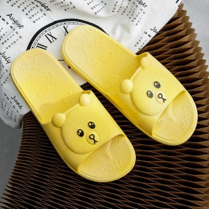 Cute Bear Fine Quality Plastic Casual Home Wear Slippers - Yellow