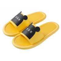 Fine Quality Plastic Casual Home Wear Slippers - Yellow