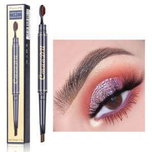Double Head Waterproof Eyebrow Pencil 02 - Coffee