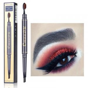 Double Head Waterproof Eyebrow Pencil 04 - Gray