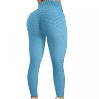 Mesh Narrow Bottom Gym Exercise Tight Fitted Trouser - Blue