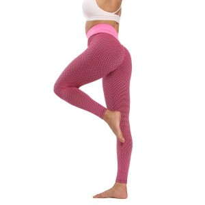 Narrow Bottom Gym Exercise Tight Fitted Trouser - Rose Pink