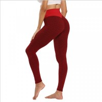 Narrow Bottom Gym Exercise Tight Fitted Trouser - Red
