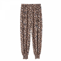 Leopard Printed Narrow Bottom Elastic Waist Trouser - Leopard Multicolor