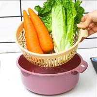 2 in 1 Kitchen Strainer and Fruit Vegetables Washing Colander Bowl