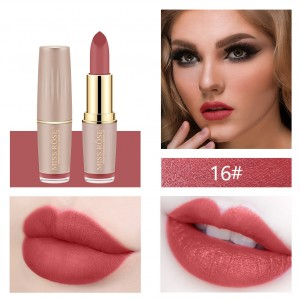 Long Lasting Waterproof Moisturizing Solid Color Lipstick 16 - Bean Red