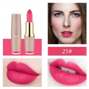 Long Lasting Waterproof Moisturizing Solid Color Lipstick 21 - Hot Pink