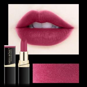 Long Lasting Waterproof Moisturizing Solid Color Matte Lipstick 04 - Purple Red