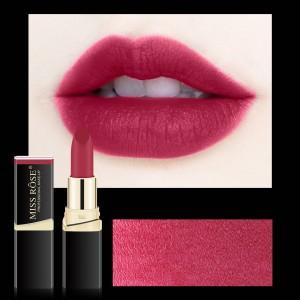Long Lasting Waterproof Moisturizing Solid Color Matte Lipstick 05 - Burnet Red