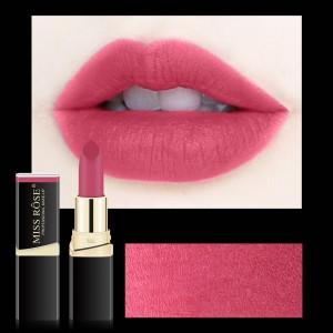 Long Lasting Waterproof Moisturizing Solid Color Matte Lipstick 06 - Light Red