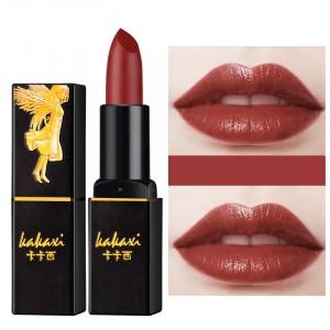 Waterproof Long Lasting Solid Color Moisturizing Women Lipstick 03 - Orange Red