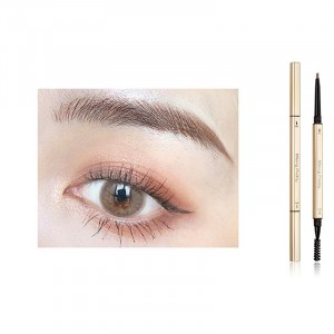 2 In 1 Long Lasting Solid Color Women Eyebrow Pencil 02 - Coffee