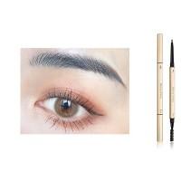 2 In 1 Long Lasting Solid Color Women Eyebrow Pencil 04 - Gray