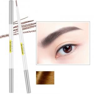 Double Head Waterproof Natural Color Eyebrow Pencil 02 - Light Brown