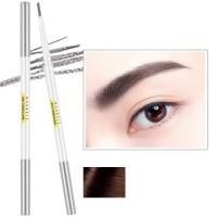 Double Head Waterproof Natural Color Eyebrow Pencil 03 - Brown