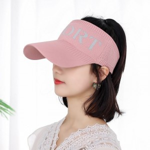 Sun Protection Sky Top Duck Tongue Hat - Pink