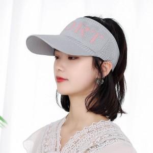 Sun Protection Sky Top Duck Tongue Hat - Light Gray