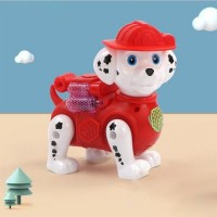 Cute Auto Running Plastic High Quality Dog - Red