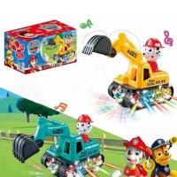 Children Auto Playable Lightening Crain Toy For Kids