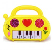 Battery Operated Cute Auto Playable Piano - Yellow