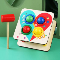 Hammer Balls Cute Playable Kids Entertainment Toy - Multicolor