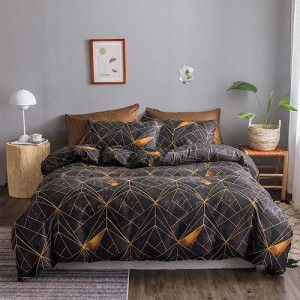 6 Pieces King Size Geometrical Design Bedding Set Without Filler