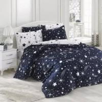 Queen/Double Size 6 Pieces Stars Design Duvet Cover Set Without Filler