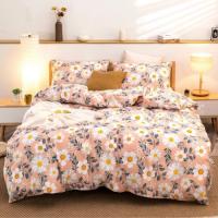6 Pieces Queen/Double Size Floral Design Cantaloupe Color Bedding Set Without Filler